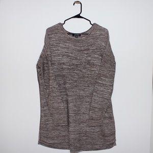 Ellen Tracy Brown Tunic Sweater